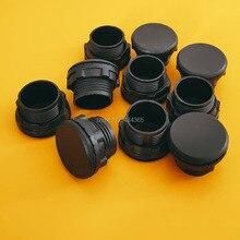 цена на 100pcs plastic  panel plugs cap  for 22mm mouning hole push button switch Black colour