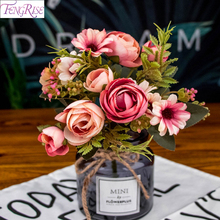 Fengrise Artificial Flowers Grass Bouquets Wedding Decor Weeding Party For Garland Plant Home