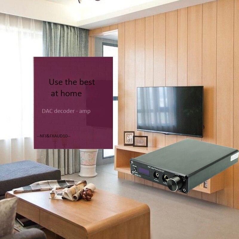 Nfj&Fxaudio Fx-Audio Dac-X7 Hifi 2.0 Audio Digital High Power Amplifier Home Mini Professional Amp Tpa3250 Ne5532 x2 70W x2(Eu