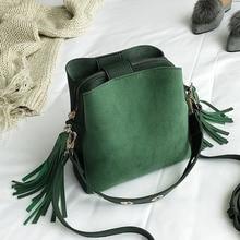 Scrub Crossbody Bags For Women Luxury Handbags Designer Famous Brand Vintage Feminina Shoulder Bucket Bag Tassel Ladies Sac Main