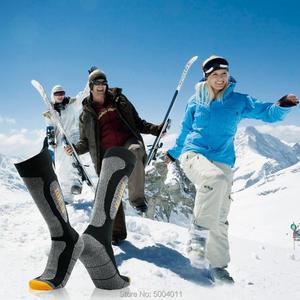 Image 5 - Randy sun caminhadas meias à prova dwaterproof água joelho alta respirável suor wicking homem mulher esportes ao ar livre pesca caça ciclismo meias