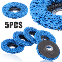 5Pcs 110mm Blue Poly Strip Disc Abrasive Wheels Paint Rust Removal Clean Angle Grinder Discs For Abrasive Tools