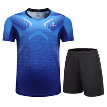 Спортивная одежда для тенниса, мужские и женские теннисные рубашки+ шорты, форма для бадминтона, одежда для настольного тенниса, дышащая спортивная одежда