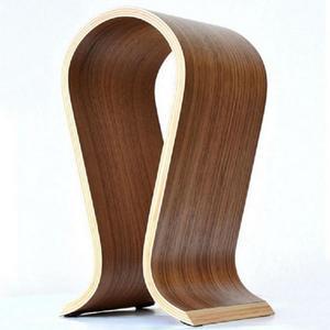 Image 3 - VODOOL עץ אוזניות Stand U צורת אוזניות מחזיק קלאסי אגוז גימור אוזניות Stand קולב לבית משרד סטודיו שינה