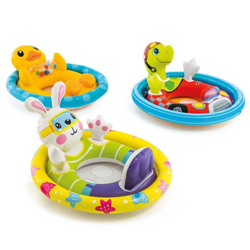 Portable Summ Baby Kids Animal Safety Swimming Ring Inflatable Swim Float Water Fun Pool Toys Swim Ring Seat Boat Water Sport