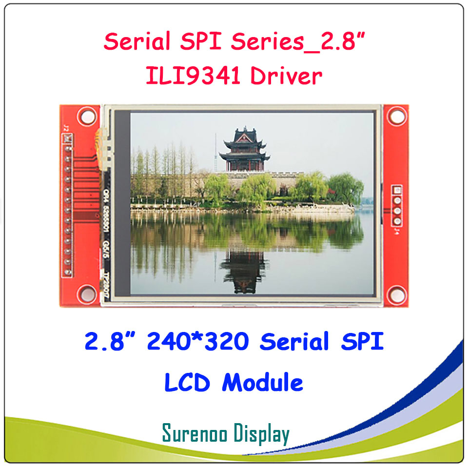 2.8 Inch 320*240 SPI Serial TFT LCD Module Display Screen With Touch Panel Driver IC ILI9341 For MCU