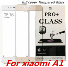 Full Cover Tempered Glass For Xiaomi A1 Screen Protective Cover A 1 MI MA1 MIA1 XiaomiA1 5.5 Inch Toughened Case Frame Display(China)
