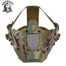 Тактический стиль железный воин маска защитный половина лицо пластик боевая военная охота Airsoft пейнтбол стрельба цель