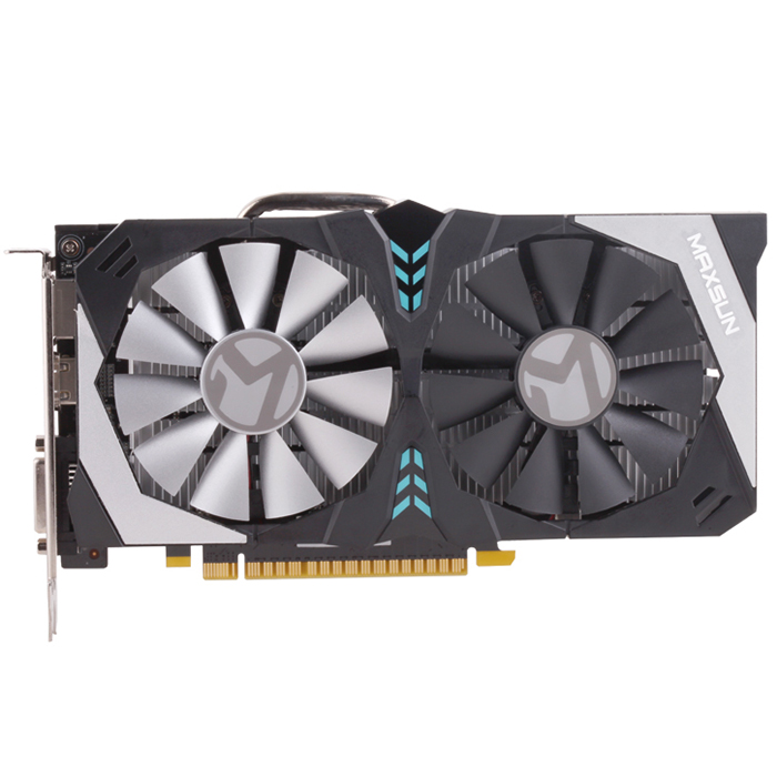 MAXSUN GTX 1050Ti Terminator M.4 4GB Video Graphics Card for Gaming GDDR5 128Bit Support HDMI DP image
