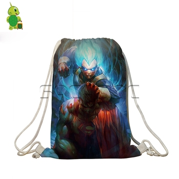 Anime Dragon Ball Crossovers Drawstring Bag Travel Shoulder Backpack Boys Girls Super Saiyan Goku Superman Softback School Bags фото