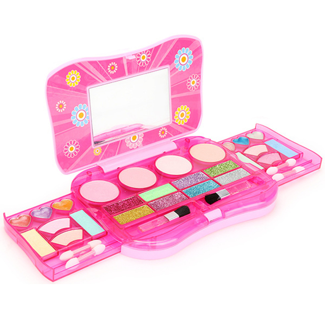 31d6a715c54 US $18.9 38% OFF Prinses Make Up Set Kinderen Kids Meisjes Cosmetica Kit  Oogschaduw Lipgloss Blushes Pretend Play Geschenken Meisjes Beauty Mode ...