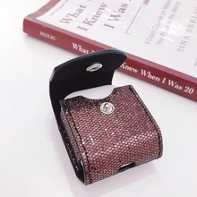Glitter Bling Case For Apple Airpods 1 2 Coque Cute Soft Sequin Pothook Earphone Accessories Box Luxury Cover For Air Pods Bags