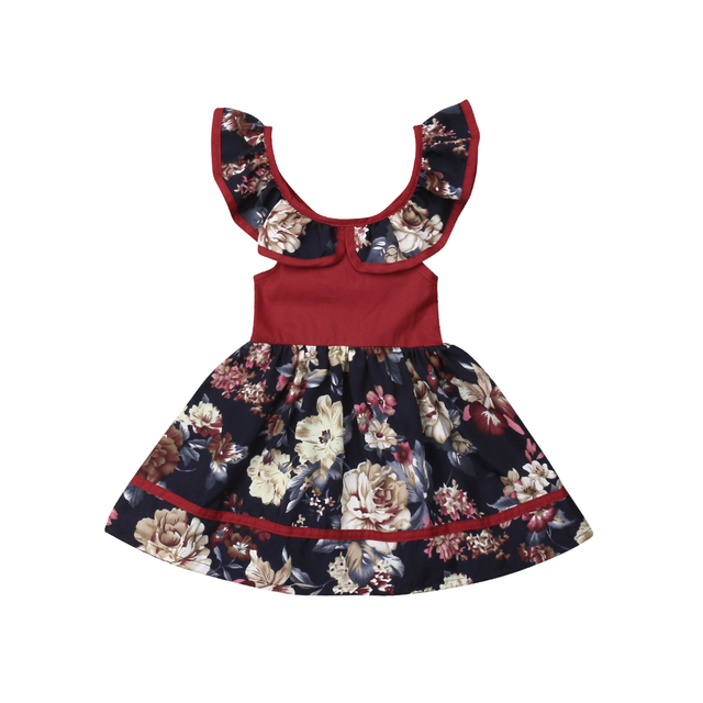 2ff92dae144a Toddler Kids Baby Flower Girl Clothes Dresses Princess Party Casual Dress  Pageant Sleeveless Summer Maxi Dresses Girls 6M-5T