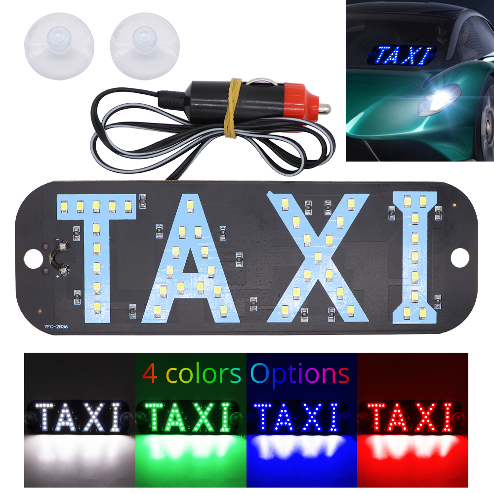 Front And Rear Inner Glass LED Highlight Light For Uber Service Signal Indicator