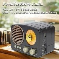 MIni Tragbare Retro Radio Handheld Empfänger AM FM SW + bluetooth Lautsprecher AUX USB TF MP3 Telefon Musik Player Wiederaufladbare radio-in Radio aus Verbraucherelektronik bei