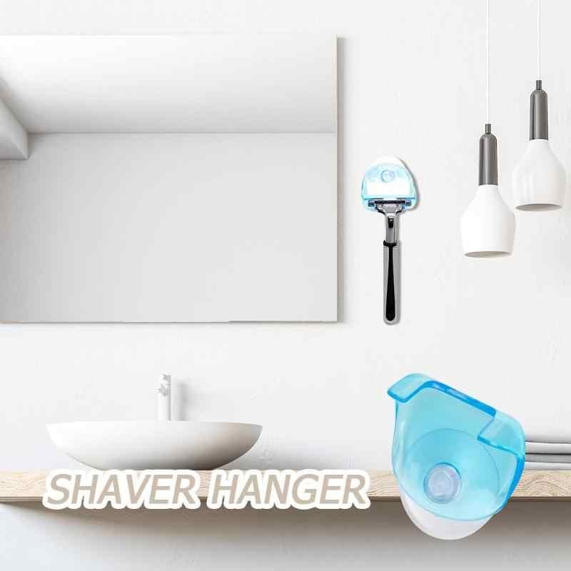 1 шт. пластиковая бритва подвесной стеллаж прозрачные полки для хранения для ванной комнаты продукт Бритва держатель на присоске Полка Органайзер