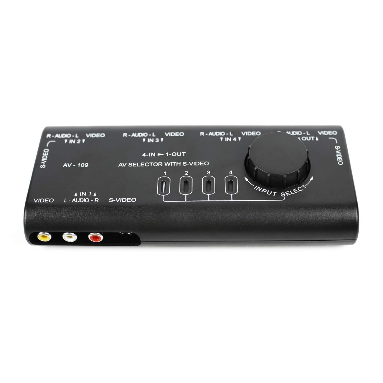 TTKK Practical AV Audio Video Signal Switcher 4 In 1 Out 4 Ways 3 RCA Switch Box Spiltter For HDTV LCD DVD STB Game Consoles A