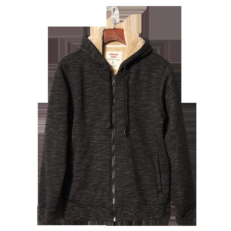 Velours De Zipper Épais Automne Capuche Hiver Vestes À Cardigan Sweat Sportwear Black Agneau Camouflage Plus Hommes Chaud z7gvzqp