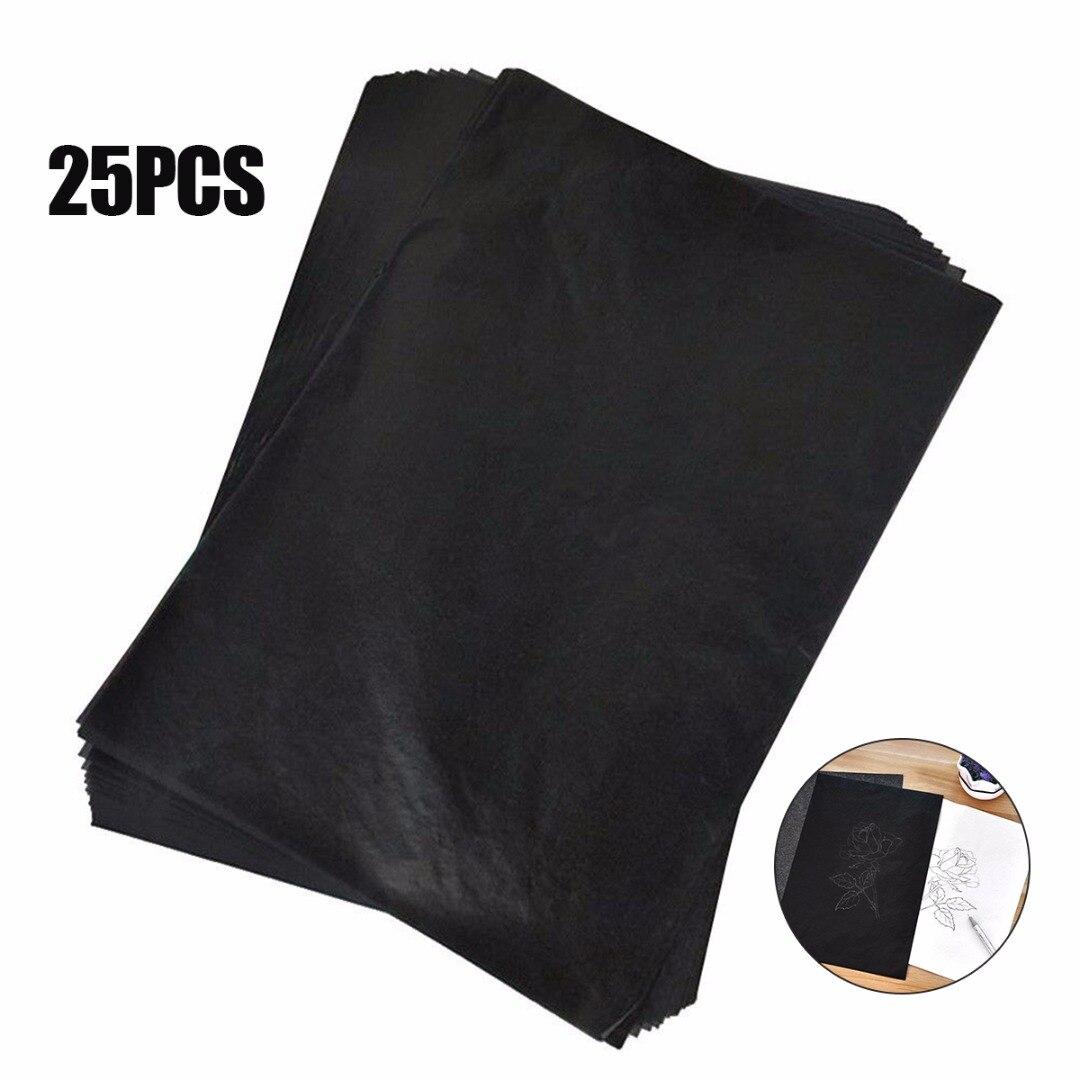 25Pcs Graphite Carbon Paper Graphite Carbon Transfer Wood Canvas Tracing Paper Art Painting Copier Carbon Painting Paper 33*23cm