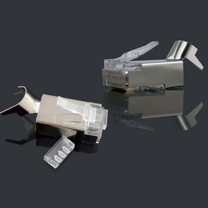 Image 4 - xintylink cat7 rj45 connector rj 45 ethernet cable plug cat6a 8P8C stp shielded cat 7 network conector jack modular 10/50/100pcs