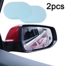 Universal 2Pcs 100*140mm PET + Nano coating Car Anti Water Mist Film Anti Fog Rainproof Rearview Mirror Window Protective Film