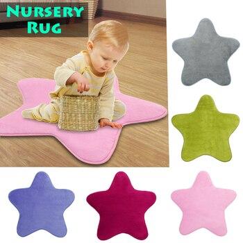 HomeTextile כוכב ילדים לשחק מחצלת תינוק שטיח אנטי להחליק נוח רצפת כותנה לזחול שטיח משתלת שטיח לילדים חדר קישוט
