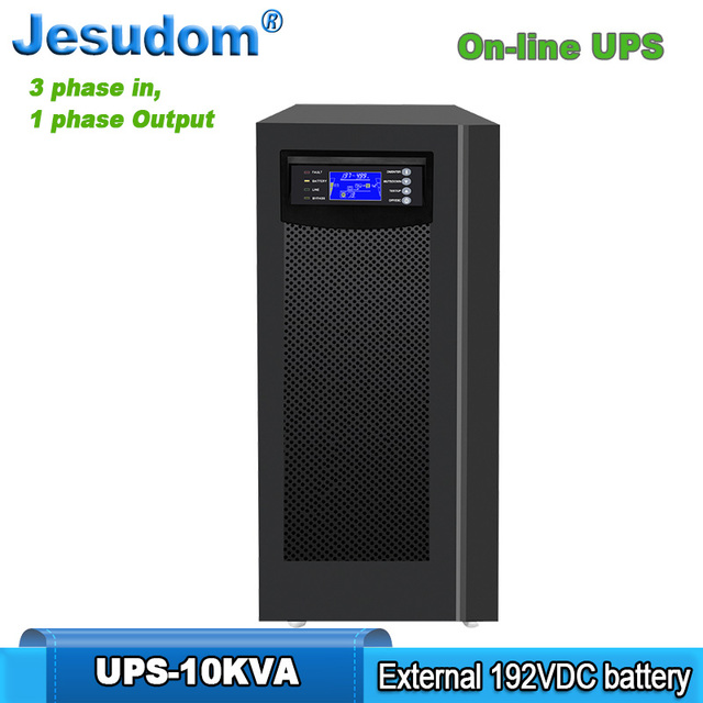 10KVA/8KW Online UPS Tower Style,192VDC, External Battery Pure Sine Wave Output 3 Phase In to 1 Phase Out ups