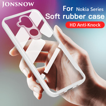 JONSNOW Phone Case for Nokia 8 7 Plus 7.1 6.1 5.1 3 2018 Transparent Anti-knock Protect Cases Soft Glue All-inclusive Back Cover
