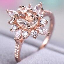 Diamond 14K Rose Gold Engagement Ring for Women Animal Shape Crystal Anillos De Bague Etoile Bizuteria NoEnName