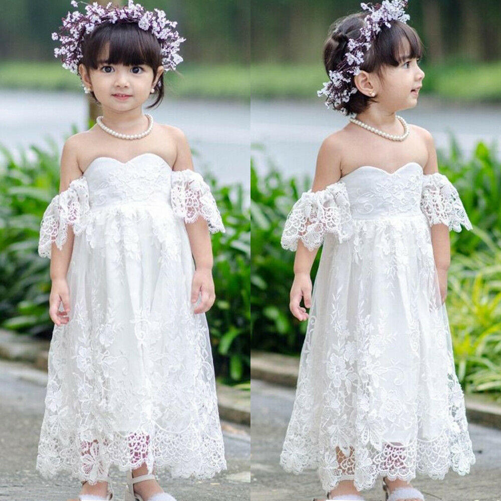 Toddler Kids Baby Girls Princess Sleeveless Dress Wedding Party Pageant Dresses