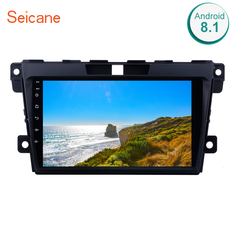Seicane <font><b>2Din</b></font> Car GPS Radio For 2007-2014 <font><b>MAZDA</b></font> <font><b>CX</b></font>-<font><b>7</b></font> Android 8.1 9inch 1080P Touchscreen Multimedia Player Support Backup Camera image