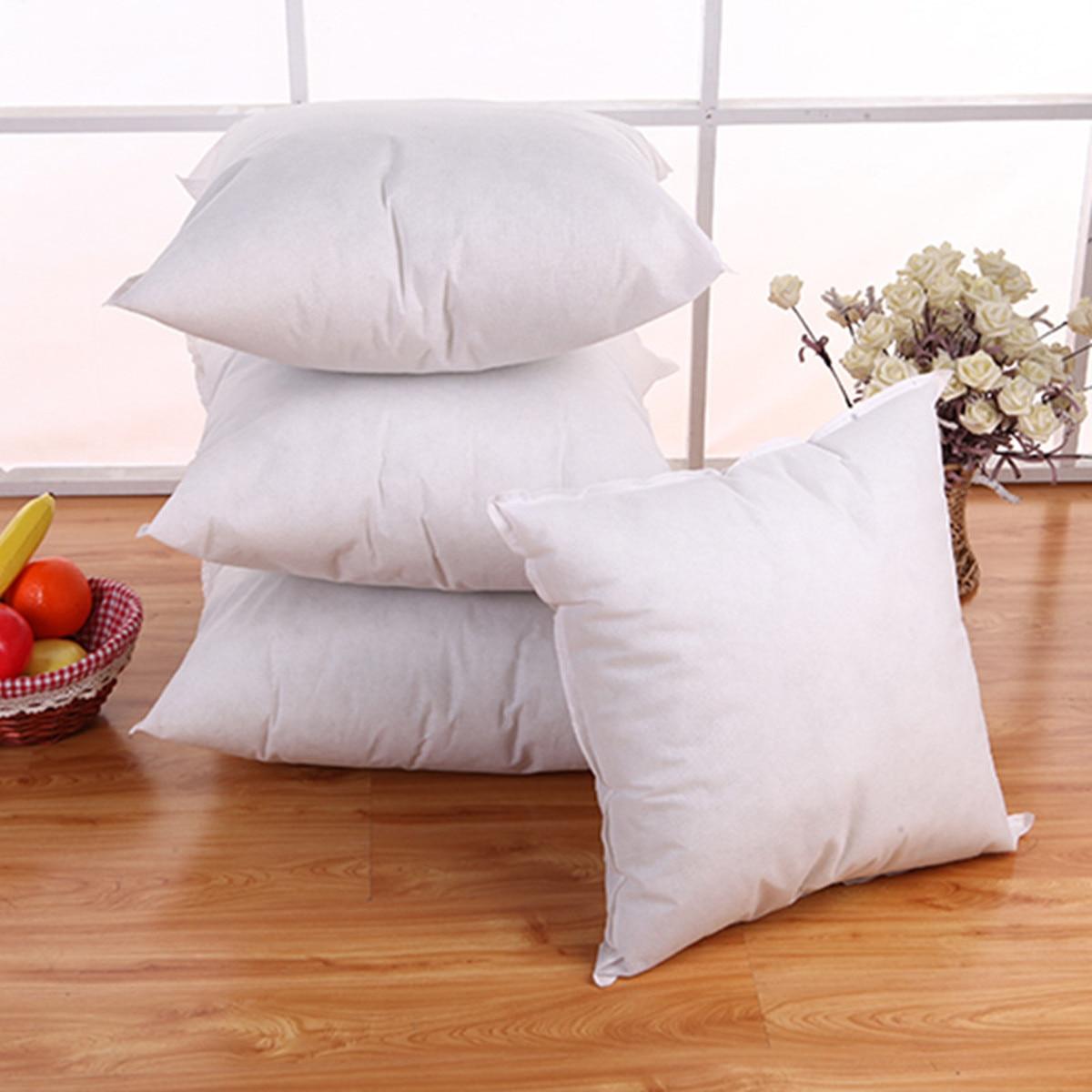 Square White Throw Cushion Pillow Insert Car Seat Waist Pillowcase Inner Filler PP Cotton Filling 5 Size 35 40 45 50 55cm