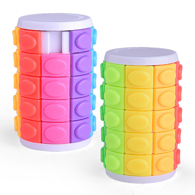 Colorful Magic Tower Cube Kids Toys 5 Dimensional Sliding 3D Puzzles Educational Toys for Children Adult Funny Anti-stress Gifts 3