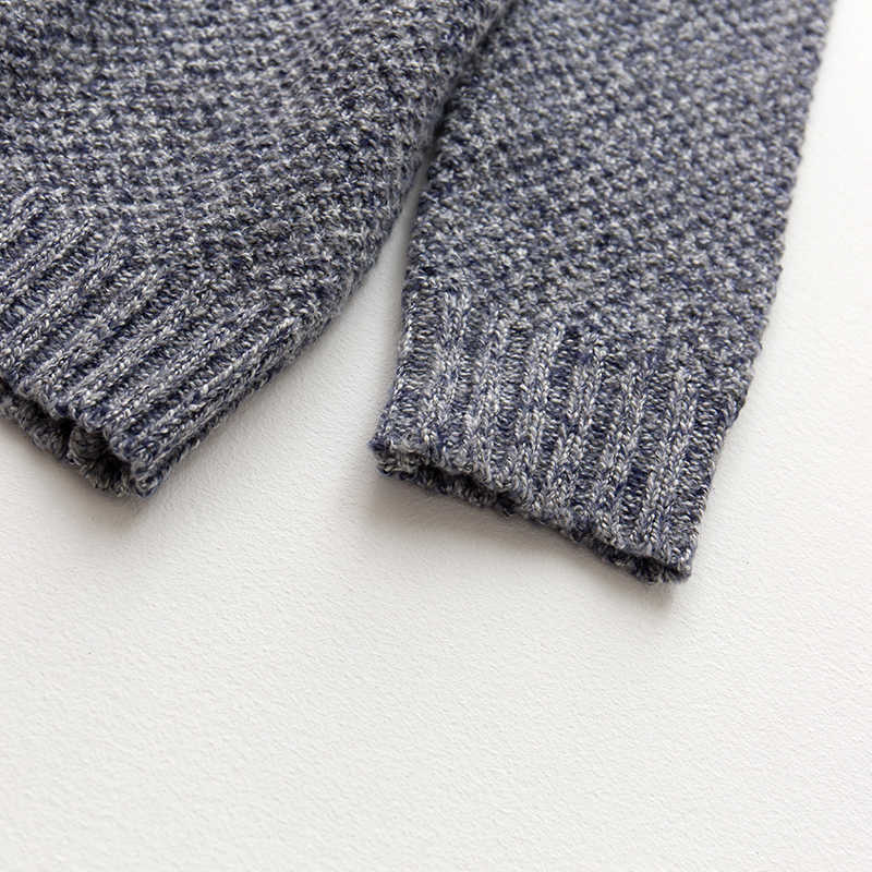 Autunno Degli Uomini Maglione di Cotone A Righe Blu Khaki Pullover di Colore Per La Moda Uomo Slim Fit Abbigliamento Maschile di Usura Lavorato A Maglia Magliette e camicette 617