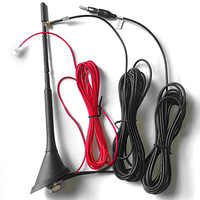 DAB +FM/AM Car Radio Aerial with Amplifier Roof Mount Antenna SMB 5m Cable for Car DAB Radio