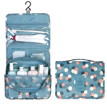 Hanging Travel Cosmetic Bag Women Zipper Make Up Bag Polyester High Capacity Makeup Case handbag Organizer Storage Wash Bath Bag недорого
