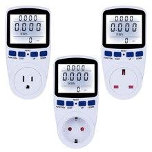 EU/US/UK Plug 220V Digital Energy Meter Wattmeter With Backlight Electronic Power Meter Record Volt Voltage Outlet Socket Meter