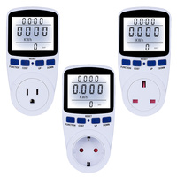 Eu/Us/Uk Plug 220V Digital Energy Meter Wattmeter Met Backlight Elektronische Power Meter Record Volt Voltage outlet Socket Meter