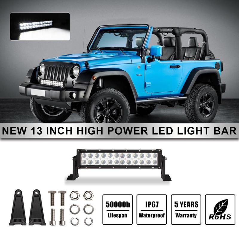 VODOOL 120W 200W 2 Row 13 21 Inch Car LED Light Bar Waterproof Spot Flood LED Work Light Lamp For Jeep Offroad 4WD Truck 4x4 SUV
