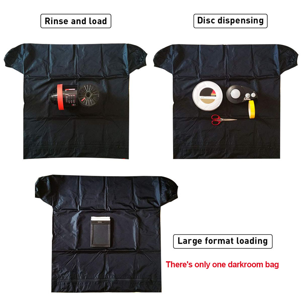 Photography Light-proof Professional Zipper Darkroom Bag Load Photo Developing Dual Layer Film Changing Anti Static Practical