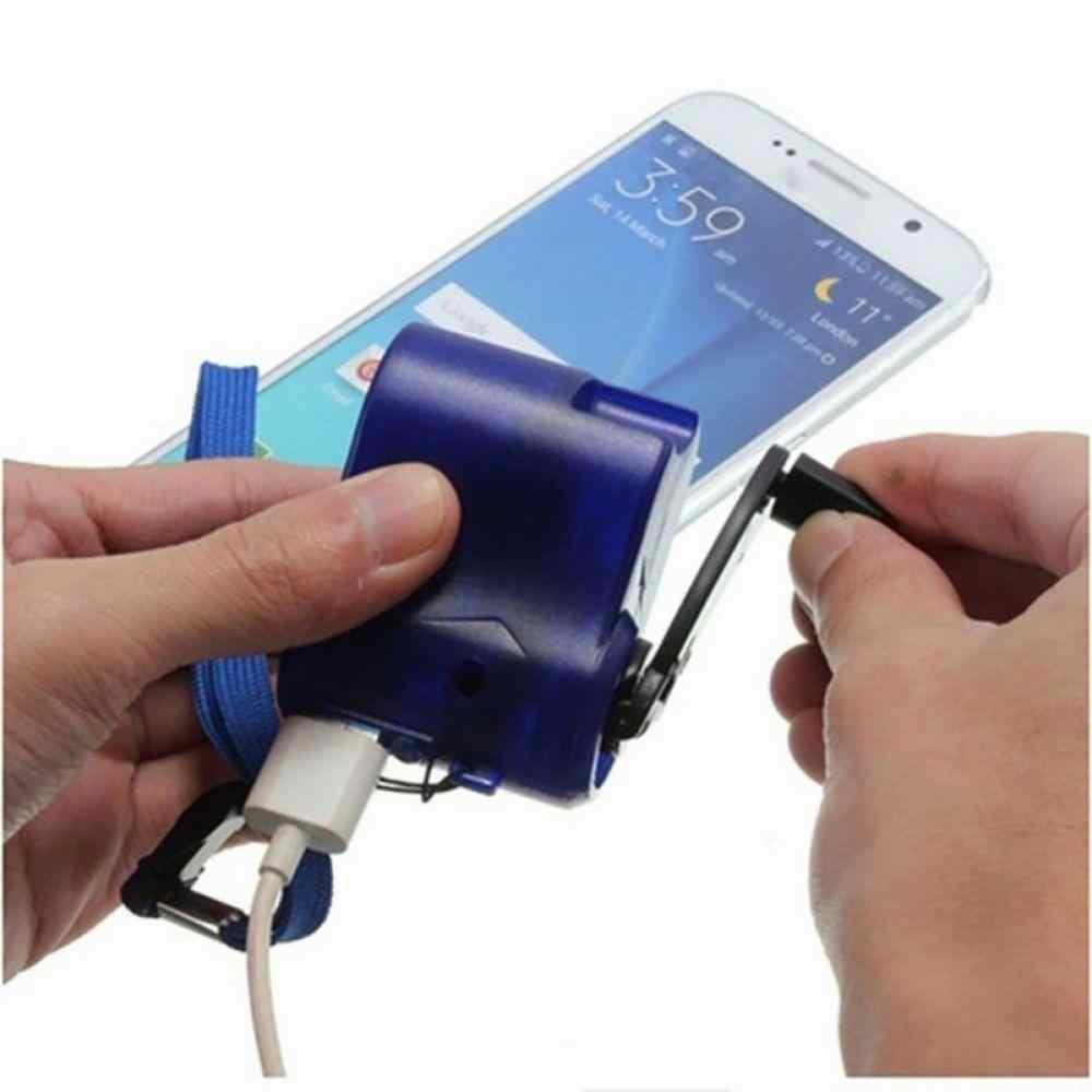 Umum USB Ponsel Charger Darurat untuk Hiking Outdoor Olahraga Engkol Tangan Travel Charger Berkemah Telepon Peralatan Alat Kelangsungan Hidup