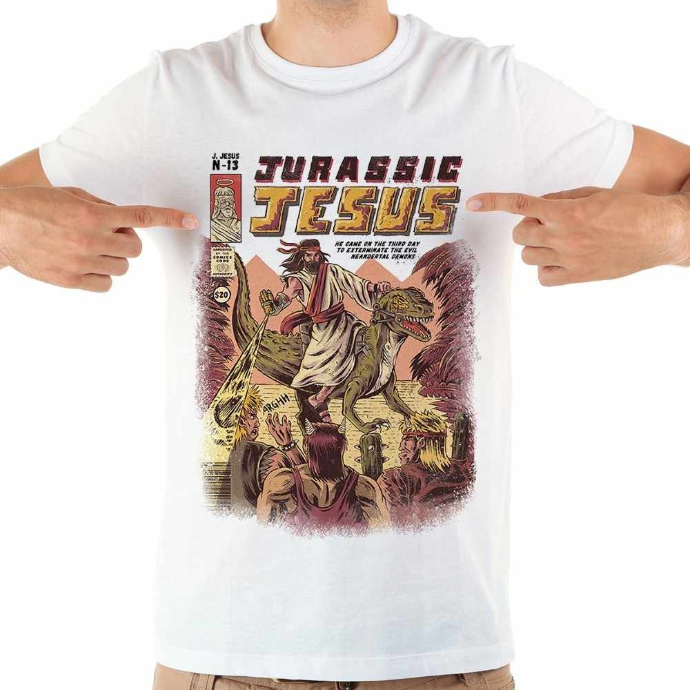 e3f62834 Detail Feedback Questions about Japan anime JURASSIC JESUS game funny t  shirt men jollypeach brand 2019 summer new white short sleeve casual homme  cool ...