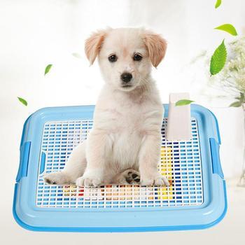 Toalete do treinamento da bandeja da maca do filhote de cachorro do gato do animal de estimação do vaso sanitário do cão da treliça fácil limpar o produto do animal de estimação para exterior interno