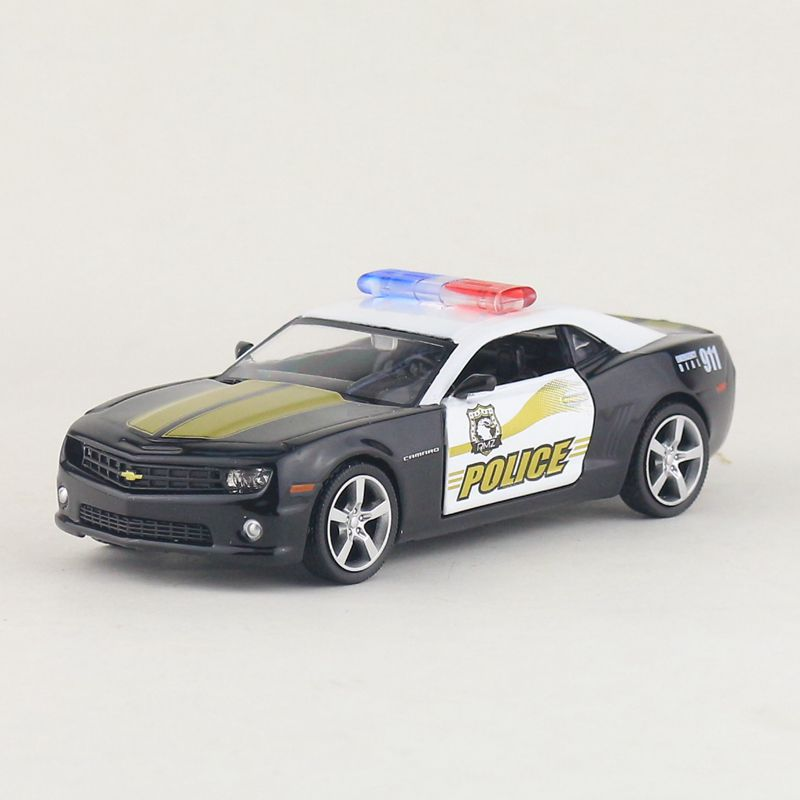 High Simulation Exquisite Diecasts&Toy Vehicles: RMZ City Car Styling Chevrolet Camaro Police CCar 1:36 Alloy Diecast Model