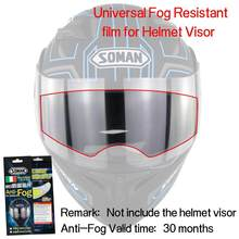 e68bca57 Universal Motorcycle Helmet General Antifogging Film Motorbike drty bike  Racing Helmet Lens anti-fog film transparent r26