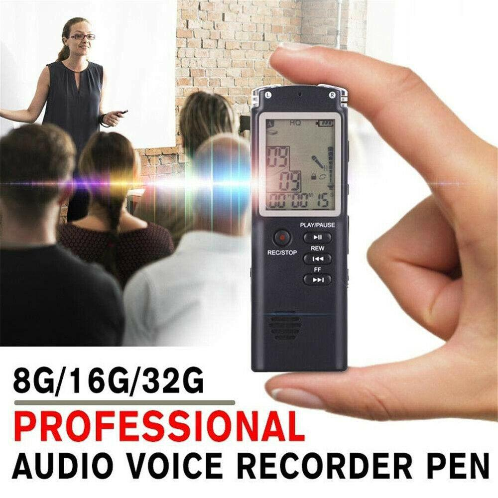 Acekool 8gb/16gb/32gb Voice Recorder Usb Professional 96 Hours Dictaphone Digital Audio Voice Recorder With Wav,mp3 Player R20 Harmonious Colors