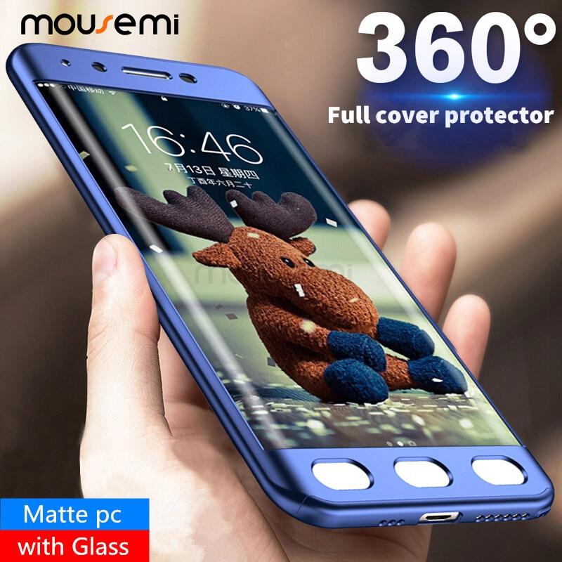 Galleria fotografica MOUSEMI For Samsung Galaxy J5 2017 J520 Pro J7 J4 J6 J8 2018 Cases With Glass 360 Full Cover Hard Case For Samsung J5 J7 J3 2016