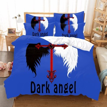 Angel and Devil 3pcs Bedding Set Duvet Cover Beddingset Sheet Pillowcase Can be customized image Bed Set Home Textile Doctor