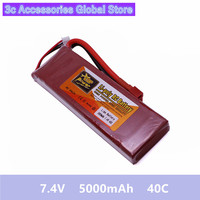 7.4 V Power 5000mAh 40C Lipo Battery Power ZOP T XT60 Remote Control Parts & Accessories High Quanlity Accessories