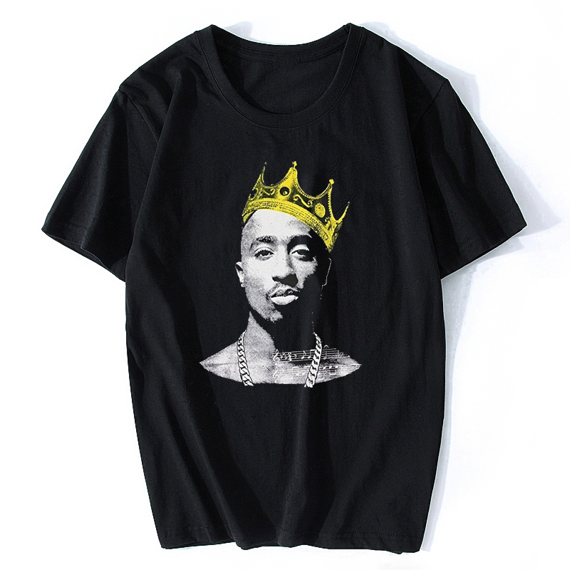 Tupac 2PAC R.I.P Fashion Short Sleeve   T     Shirt   Printed Cotton Top Tees Casual Hip Hop Rock O Neck Rock Music Tee Rap   Shirt